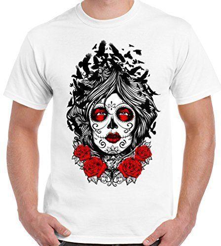 8b03ff536 Muerte Lady Crow Mens Day Of The Dead T Shirt Sugar Skull Tee Shirt  Designers Funny Print T Shirts From Shirtifdesign, $11.01  DHgate.Com