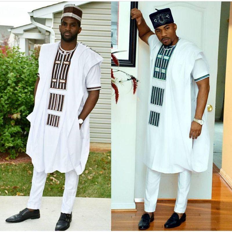 0f679853d Compre Homens Vestido Africano 3 Peças Conjunto Dashiki Mens Camisa África  Roupas Bazin Riche Africano Roupas Bordados Tops Ternos De Calça De  Vincant