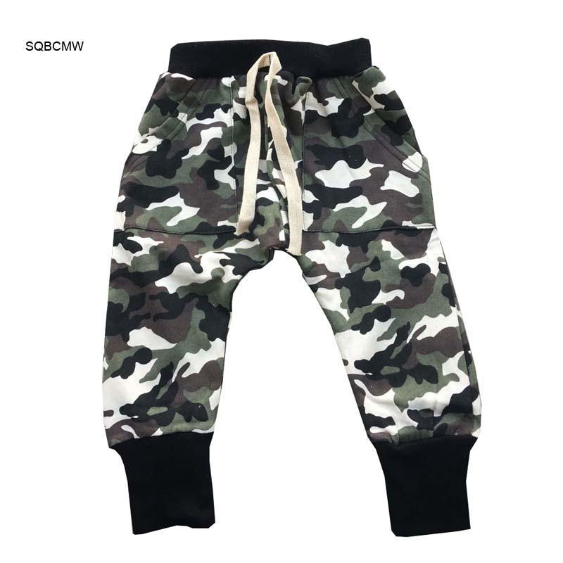 578ddf5affeb3b Acheter SQBCMW 2018 Enfants Printemps Automne Vêtements Filles Camo Armée  Pantalon Enfants Pantalons Pour Garçons Sarouel Camouflage Vert Taille90 ~  130 De ...