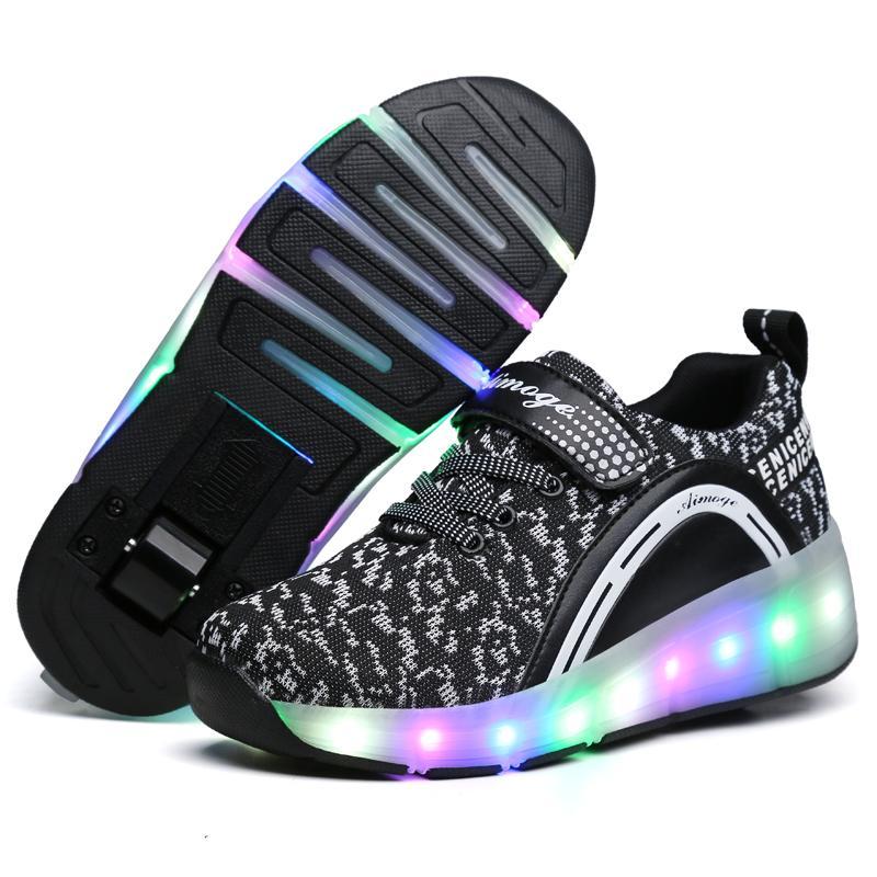 6ed954a3b Compre 2018 Heelys LED Zapatillas De Deporte Ligeras Con Ruedas ...