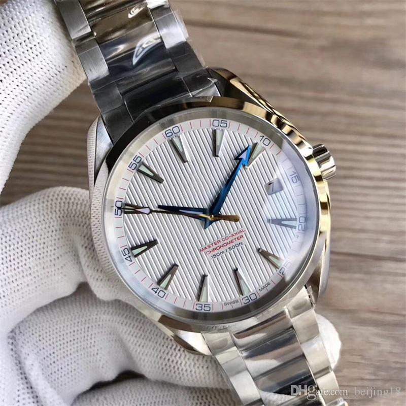 caa2a076141 Relógios De luxo Pulseira De Aço Inoxidável Aqua Terra 150 m Mestre 41.5mm  De Aço Inoxidável 23110422101004 41.5mm RELÓGIO de HOMEM relógio de Pulso