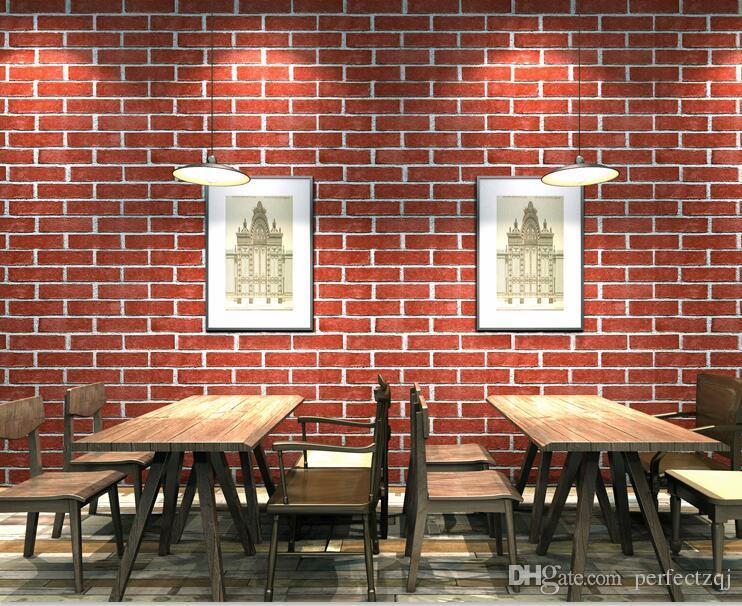 Verdicken Sie Chinesische Weinlese Ziegelstein Tapete 3d Fur Wohnzimmer Steinwand Papier Fur Restaurant Kaffeestube