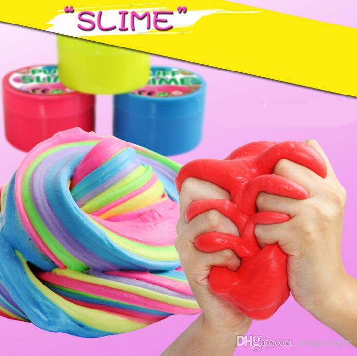 Novelty Clay Puff Slime Intelligent Creative Hand Gum Elasticity Environmental protection Thinking Putty Dough toys anxious decompression XX