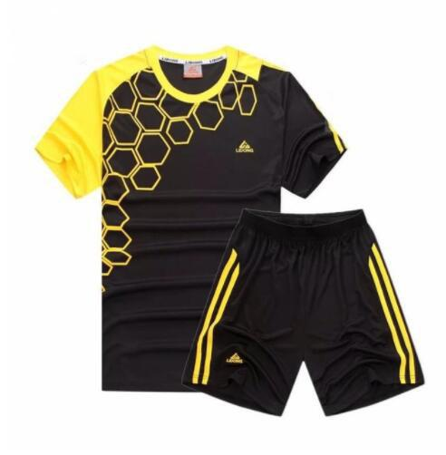New Kids Football Kits Boys Soccer Sets Jersey Uniforms Football Training  Suits Breathable Polyester Short Sleeved Jerseys ac63c8135
