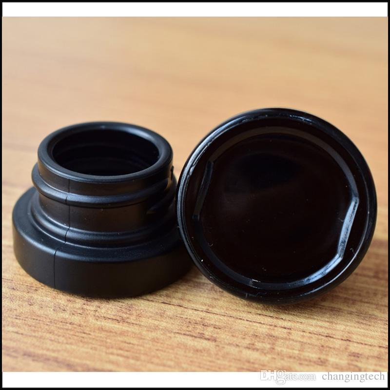 Contenitore in vetro nero da 5 ml con coperchio resistenza del bambino Vetro ultravioletto concentrato di olio denso Spedizione gratuita