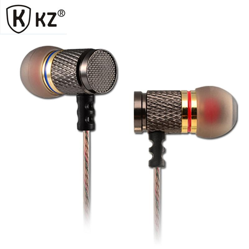 KZ EDR1 fone de ouvido Metal In Ear Earphone High Quality HiFi Sport In-ear Earbuds Auricular Good Bass No Microphone