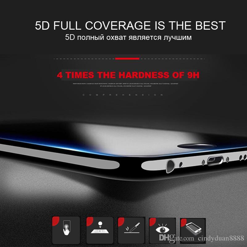 5D закаленное стекло для iphone 7 glass 6 S plus протектор экрана для iPhone 6 7 8 plus X стекло полное покрытие фильм изогнутый край