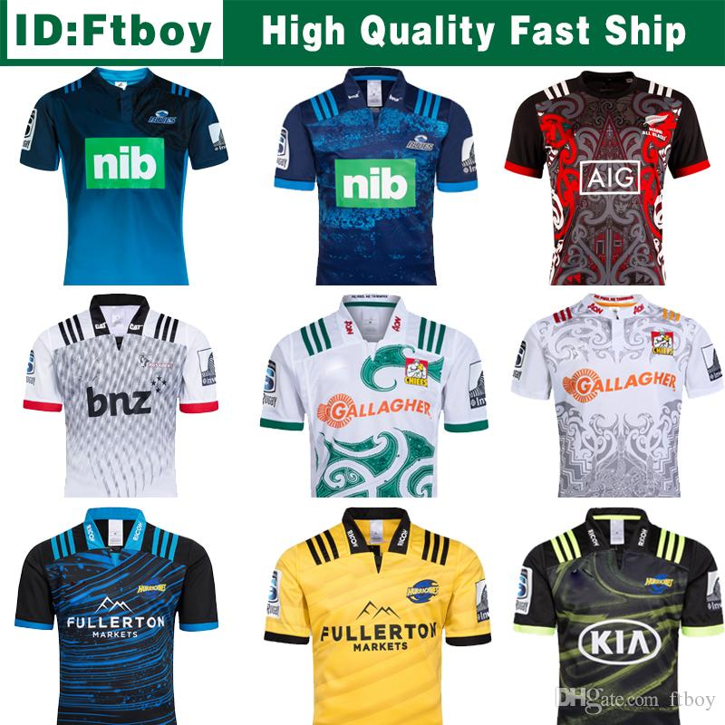 3a8773b1f36 2019 2018 Chiefs Super Rugby Jersey New Zealand Super Chiefs Blues  Hurricanes Crusaders Highlanders Shirts SIZE: S 3XL From Ftboy, $26.1 |  DHgate.Com