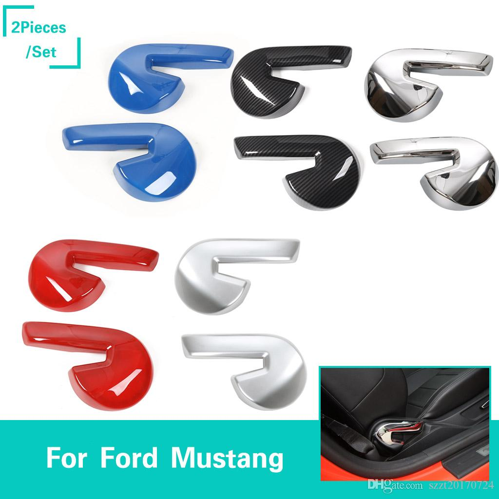 ABS Car Seat Adjusting Handle Decoration Cover Trim for Ford Mustang 2015-2017