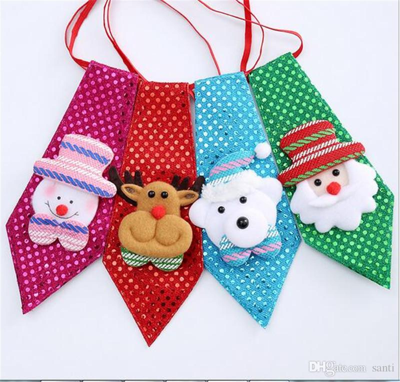 Christmas New Year Tie Party Accessories Boys Creative Christmas Bow ...