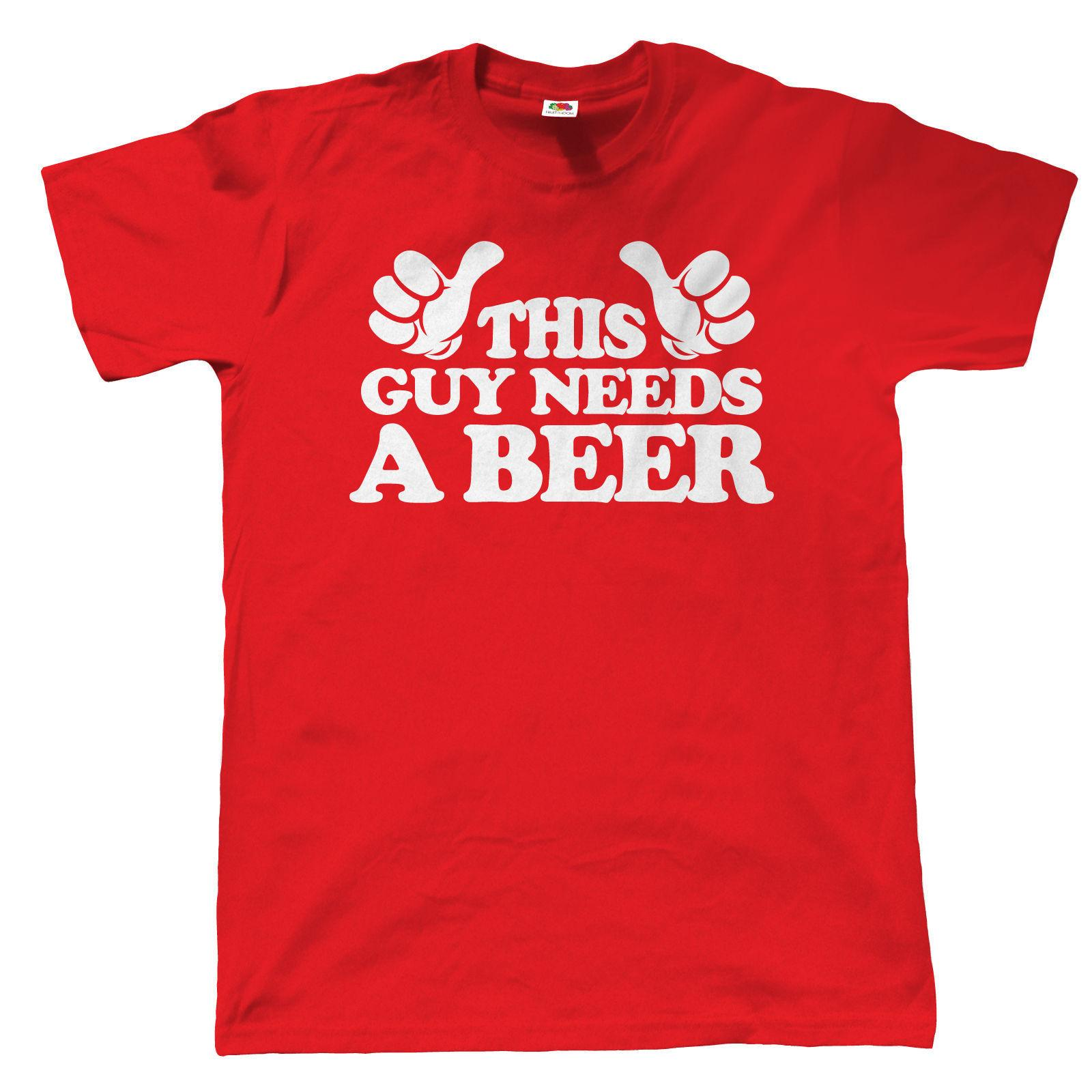 fd8e7af8e9c8 This Guy Needs A Beer Mens Funny T Shirt Gift Birthday Birthday T Shirt  Every Day Funny Cool Shirts From Directwallartuk