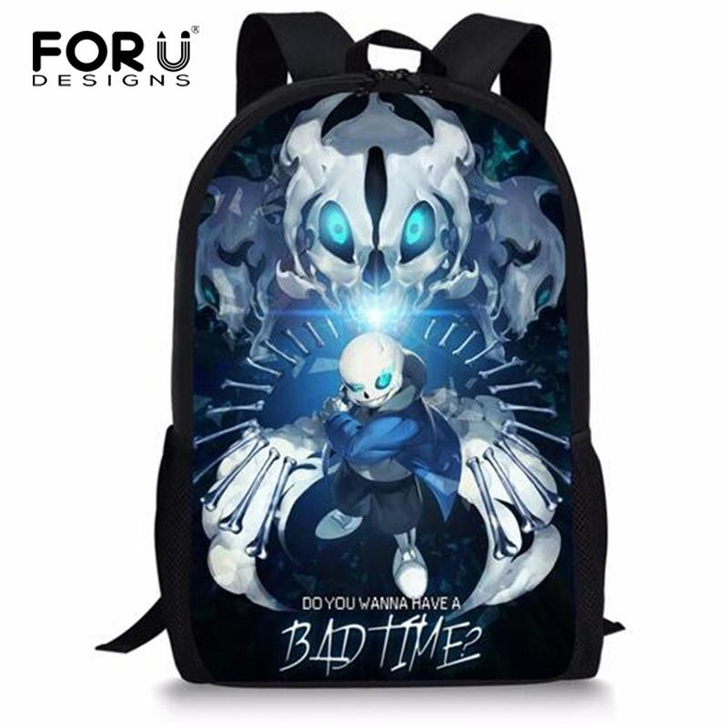 83e4ee8ad4 FORUDESIGNS Undertale Schoolbag Backpack Girls Boys Book Bag Cool ...