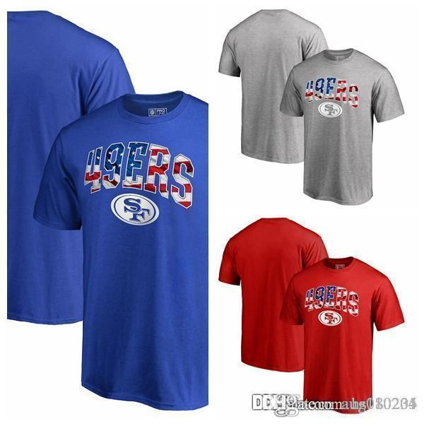 07c42850b Men s T-Shirt San Francisco 49ers Pro Line by Fanatics Branded Banner Wave T-Shirt  - Heathered Gray Dark Blue Red Leisure T-shirt Men s Short T-shirt Short ...