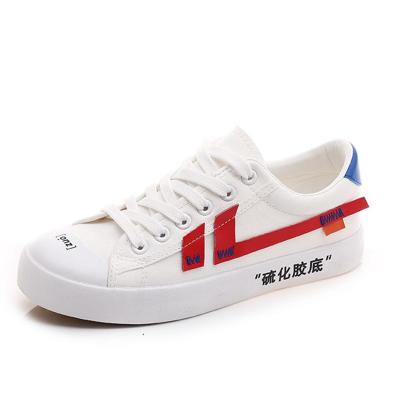 ec1644f25c01 2018 Summer New Small Casual White Shoes Fashion Woman Canvas Shoe ...