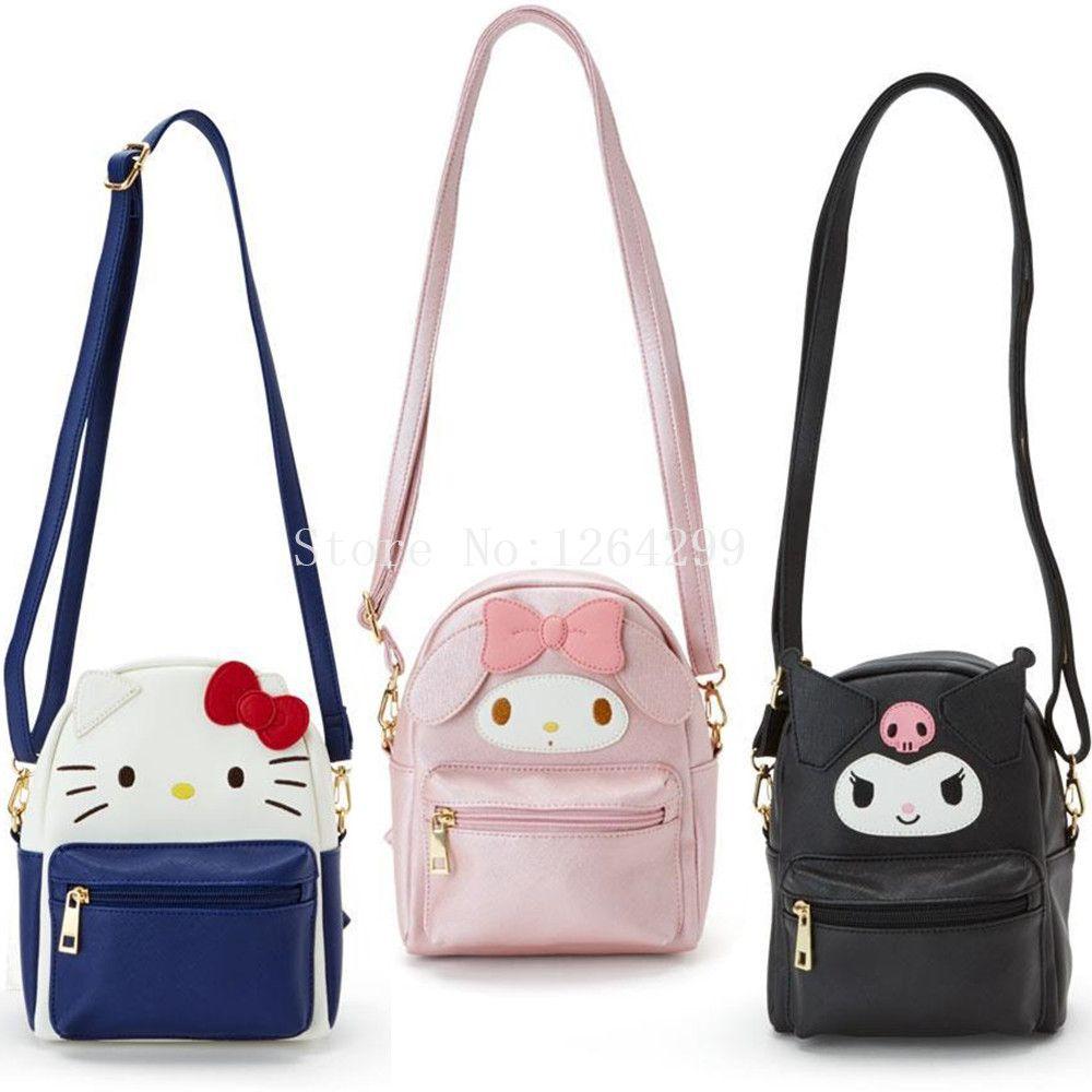 6b6d54c03 New Fashion Hello Kitty My Melody Kuromi Girls Mini PU Messenger Bags Kids  For Children Crossbody Purses Wholesale Handbags From Singgirl, $33.41|  DHgate.