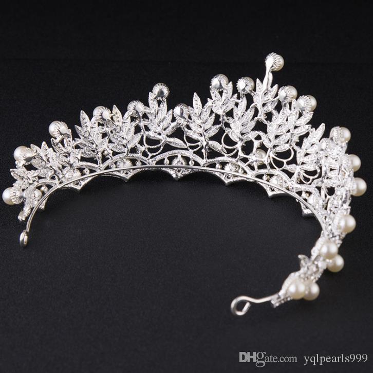 Big Korean wedding head ornaments, water drill, crown Bridal