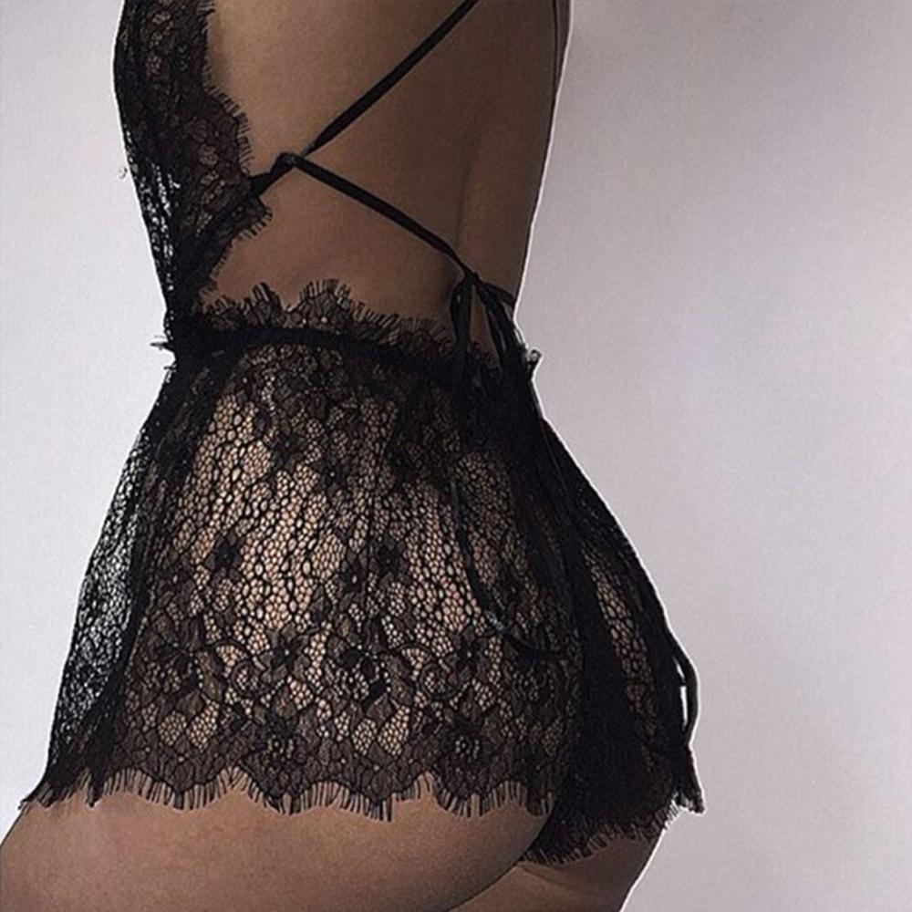 Эротическое порно сексуальные женщины похудения нижнее белье ресницы кружева белье полые пижамы Babydoll трусики Интимные аксессуары