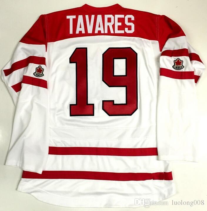 first rate c689d 2cf6d 2018 JOHN TAVARES STEVE YZERMAN TEAM CANADA WORLD JUNIORS Embroidery  Stitched Customize any number and name Jersey Jerseys Free Delivery