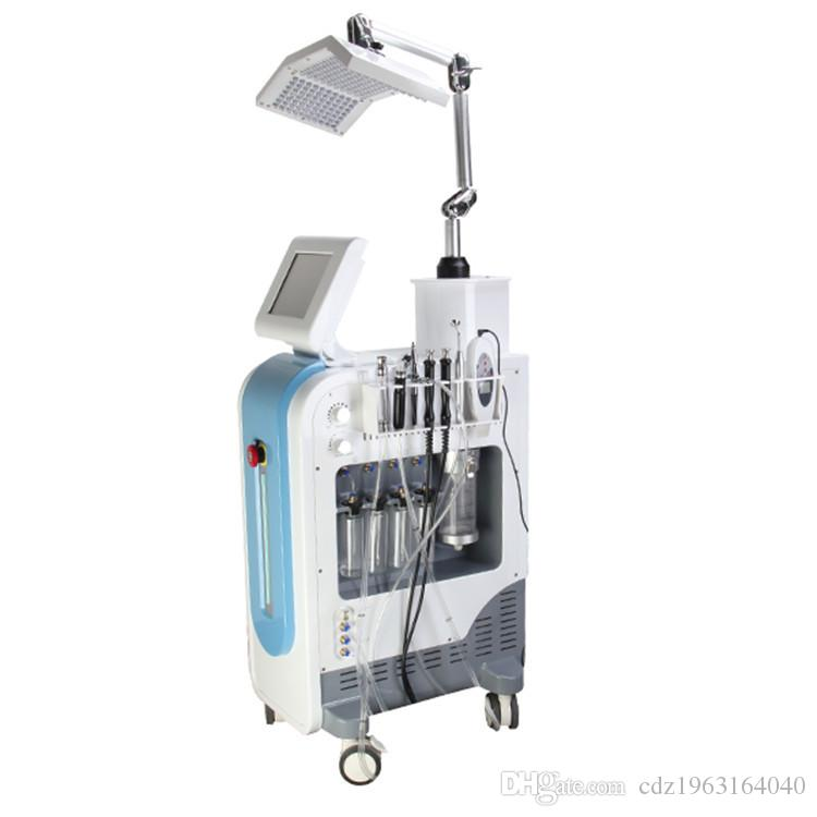 SP600 Multifunction Galvanic Microcurrent 7 in 1 Hydrafacial oxygen water spray aqua dermabrasion PDT LED beauty machine