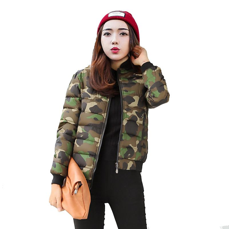 39b28514f4b4c Camouflage Women Bomber Jackets Green Outwear 2018 Female Camo Girls Purple  Coats Korean Style Slim Fashion Short Parka