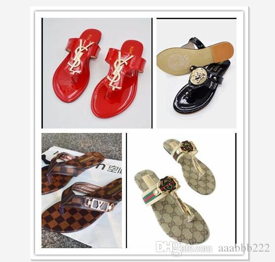 latest sale online official site for sale Famous designer brand sheepskin cool slippers ladies fashionable leather letter slippers high quality summer cool slippers size 35-42 footaction sale online excellent cheap price SZ3cLff2X