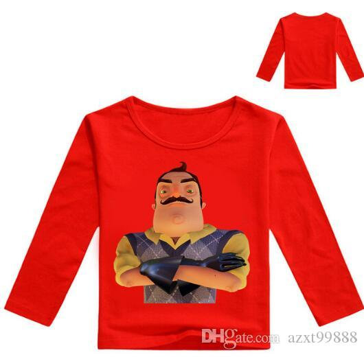 b45576ec03764 2-12Years Boys Tops 2018 Kid T Shirts The Hello Neighbor Clothes for ...