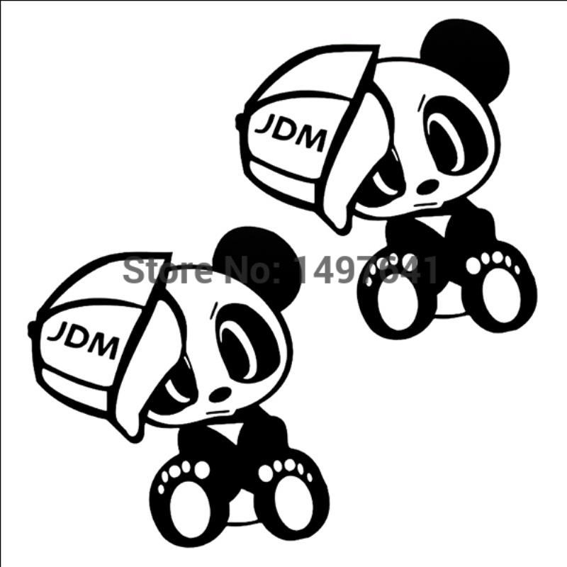 Hotmeini Wholesale 2 6 X 5 Cool Jdm Style Team Panda With Hat
