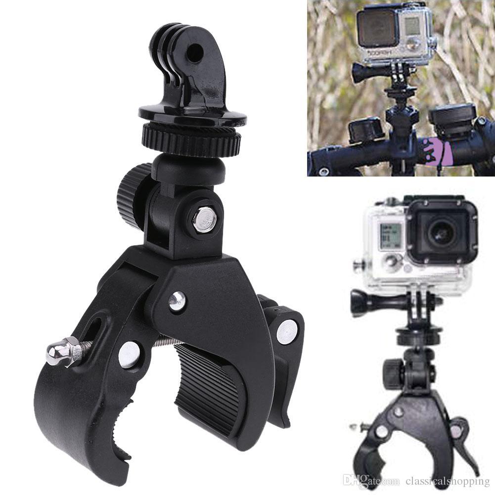 b8d507303 Compre Soporte Para Montaje En Manillar Para Bicicleta Soporte Para Soporte  Para Clip En Moto Para Go Pro Hero 4 3 3 +   2 1 SPORT DV Camera A  9.05  Del ...