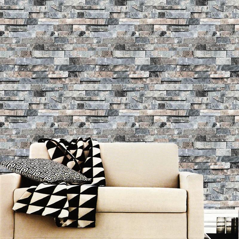 urijk 3d stereoscopic faux stone brick wall wallpaper for walls
