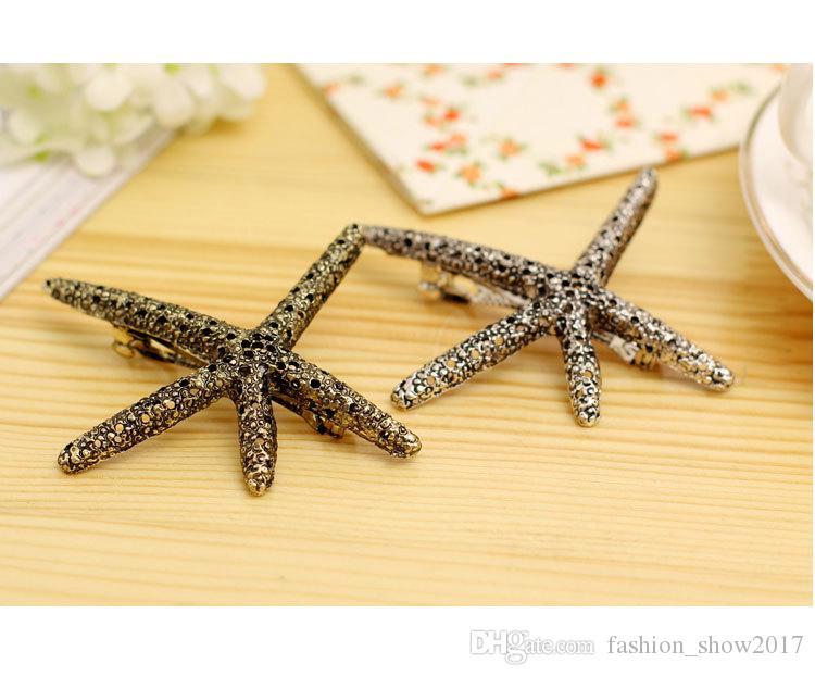 Fashion Beach Starfish Metal Headdress Hair Accessories Head Jewelry Hair Clip Pins Bijoux Hairpin For Women