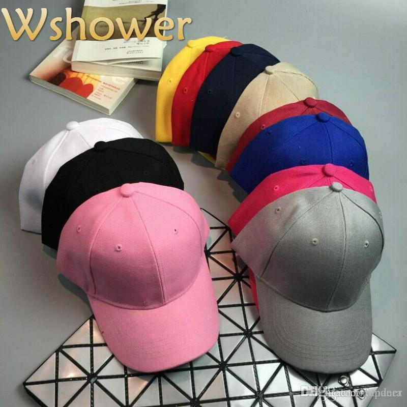 acbbebbc735 Which In Shower Black White Khaki Cheap Women Men Plain Baseball Cap Hip Hop  Curved Brim Blank Snapback Hat Summer Cap Customized Hats Custom Hat From  ...