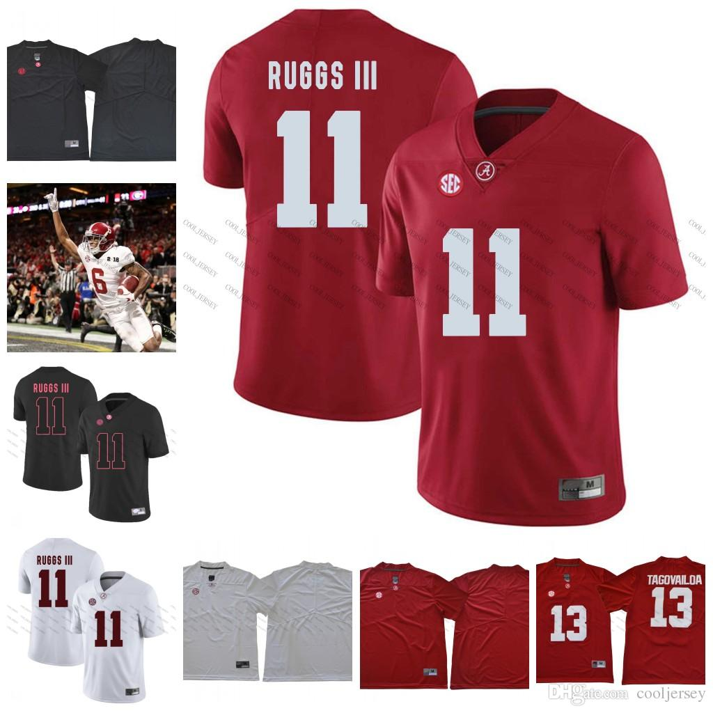 d224e752ecb 2019 NCAA Alabama Crimson Tide  6 Devonta Smith 17 Cam Sims 11 Henry Ruggs  III 1 Robert Foster 2018 Championship Football Jerseys White Red From  Cooljersey
