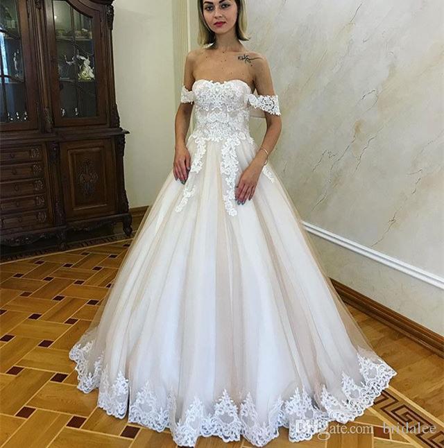 Discount Designer Wedding Gowns: Discount New Design Fashion Lace Long Wedding Dress 2019
