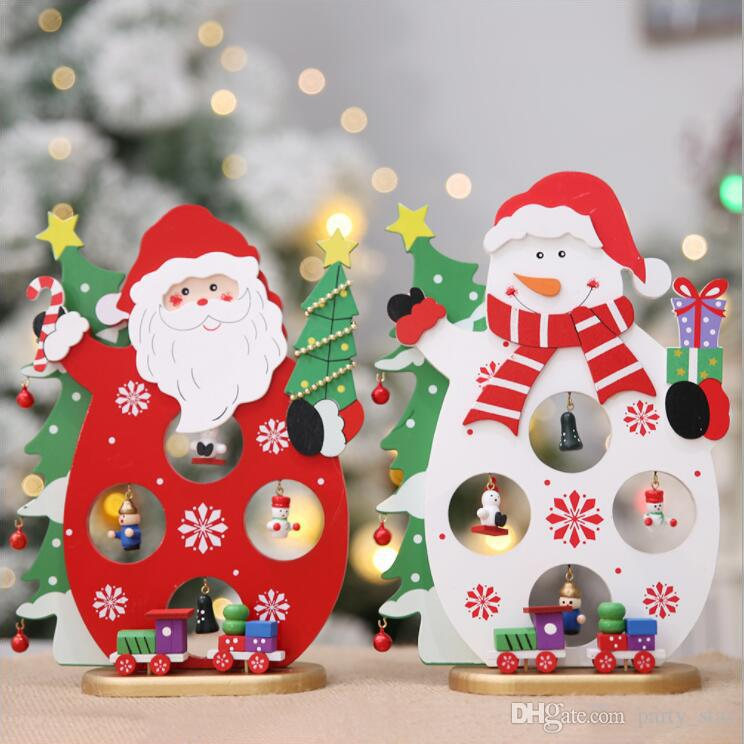 Fashion Santa Claus Snowman DIY Home Furnishing Articles Children Christmas Party Gift Store Decorations Wholesale Decor