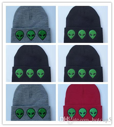 Wholesale Casual Women Winter Hats Warm Beanies Hats Alien Figure