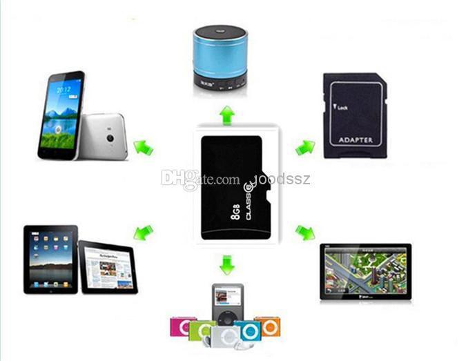 100% Gerçek 8 GB Hafıza Kartı tam Kapasiteli TF Kart 8 GB Cep Telefonu için Hiçbir Adaptörü MP3 / 4/5 Tablet PC