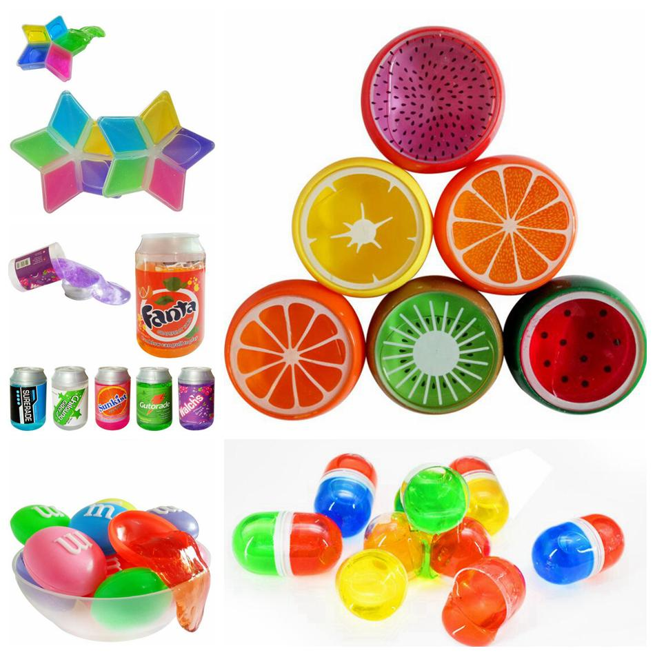 Fruit Crystal Mud Crystal DIY Transparent Clay Jelly Mud 6*6cm Plasticine Mud Playdough Rubber Muds Gifts For Kids OOA5128