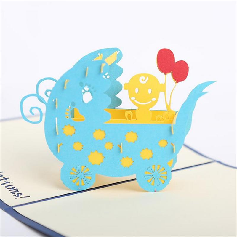 doreenbeads creative 3d cards invitations newborn baby blessing card