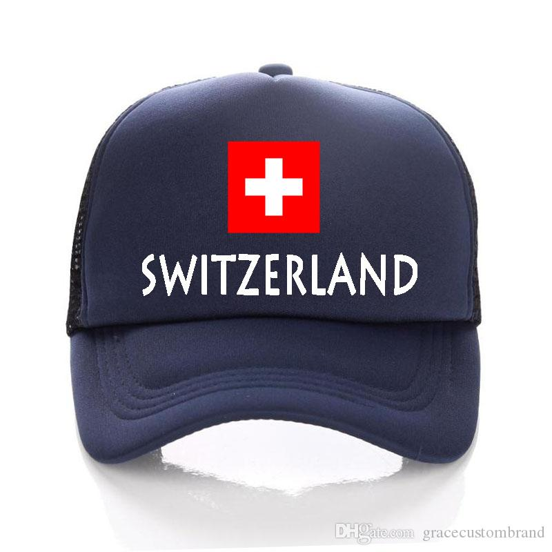 cce6e7a3 Adult Trucker Hats Russia 2018 World Cup Football Mesh Baseball Cap Women  Sun Hat SWITZERLAND Flag Snapbacks For Men Summer