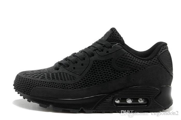 official photos 1e5ec 36a70 Großhandel Nike Air Max 90 Airmax Großhandel Laufschuhe Top Neue Outdoor  Schuhe Günstige Kausal Sneaker Frauen Männer Rabatt Sport Sneakers 24 1 Von  ...