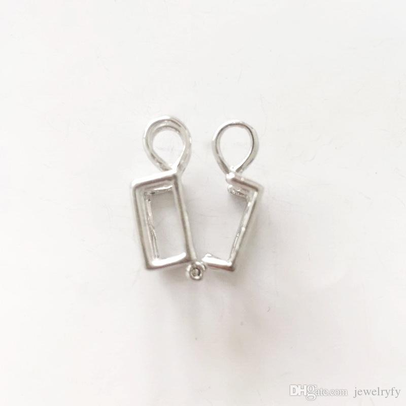 18KGP Cube Locket Cage Pendant Mounting, Can Hold 5-8 MM Pearl Cystal Gem Beads Pendant Necklace Fitting Lovely Charms