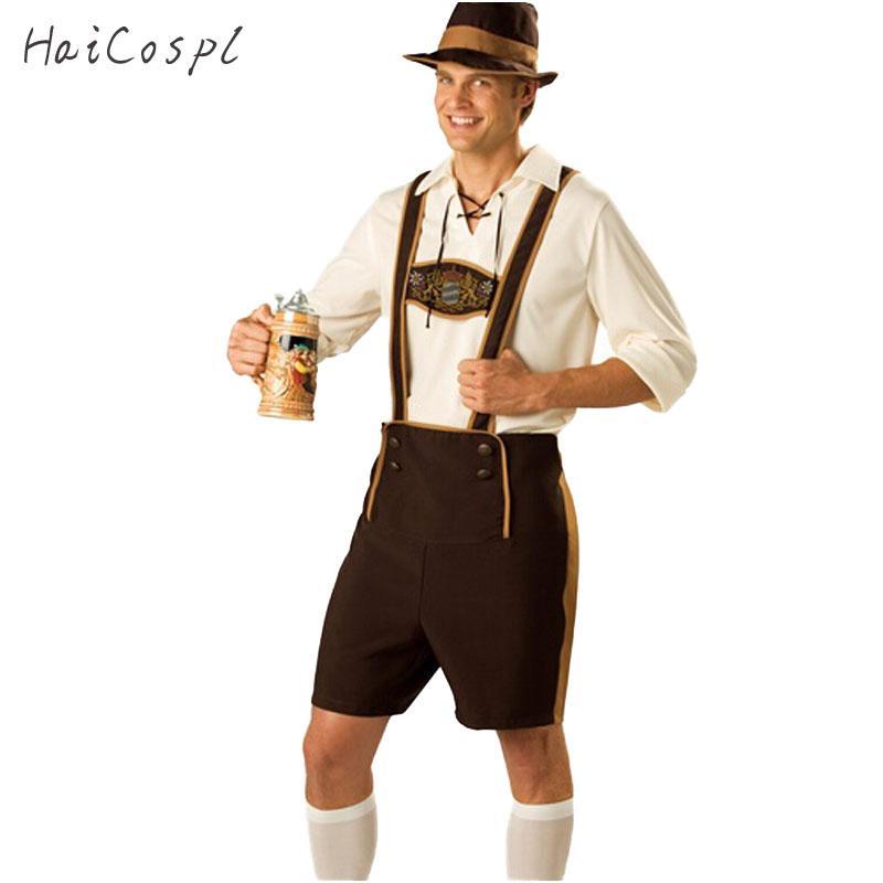 15dc5162e Men Oktoberfest Costume Set Bavarian Octoberfest German Festival Beer  Cosplay Adult Plus Size Halloween Costumes Hat Top Short Pet Halloween  Costumes Dog ...