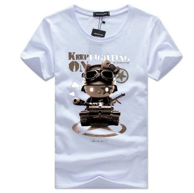 Compre 2018 Novo Estilo Americano De Verão S 5xl Homens Camiseta De Algodão  De Manga Curta Homem Clothing Camisetas Masculinas Masculina Clothing  Homens T ... 998b07827a407