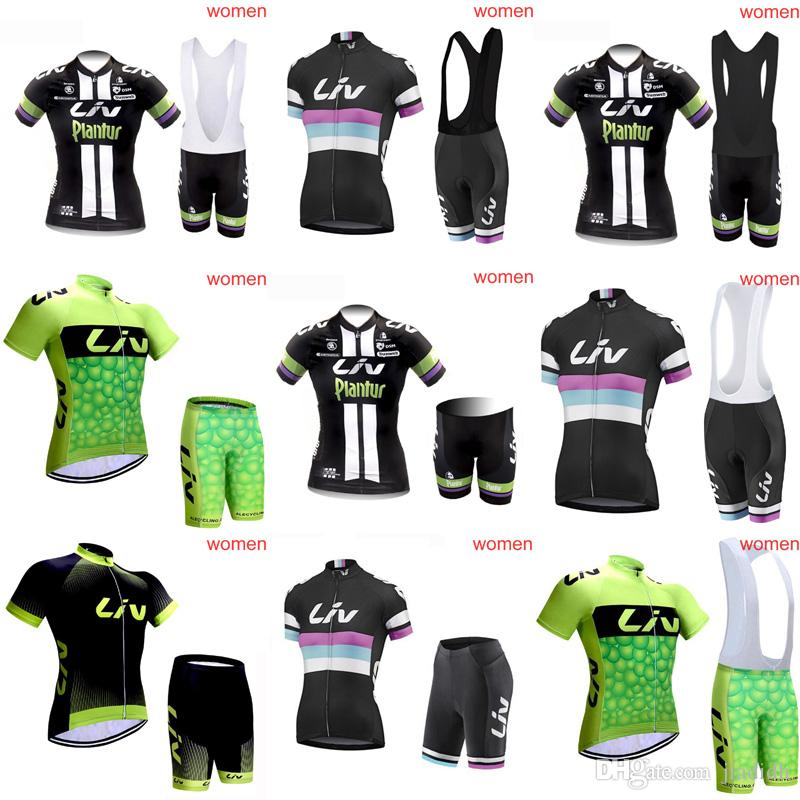 LIV Cycling Short Sleeves Jersey Bib Shorts Sets Summer Hot New Riding Jersey  Short Sleeve Suit Comfortable Breathable C2918 Baggy Cycling Shorts Cycle  ... 7191d97e6