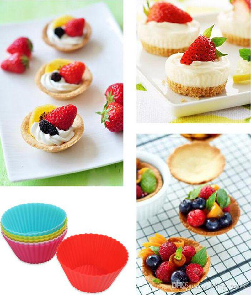 Silicone Cake Mould Muffin Baking Cupcake Chocolate Mold Kitchen Tools round heart butterfly bear star optional YW509