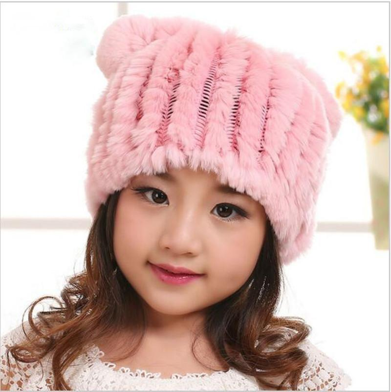 620e2a7cb9e7d 2019 New Arrival Spring Winter For Baby Girl Boy Child Caps Winter Hat Rex Rabbit  Fur Caps Lovely Fur Hat Fashion Warm Knitting From Lookest