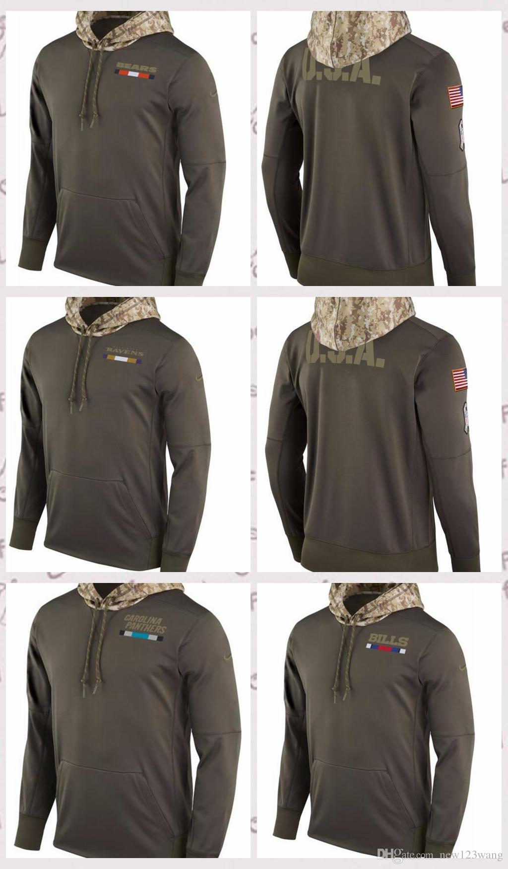 big sale 8e954 3d6d0 Men's Buffalo Bills Carolina Panthers Chicago Bears Salute to Service 2017  Therma-FIT Performance Hoodie