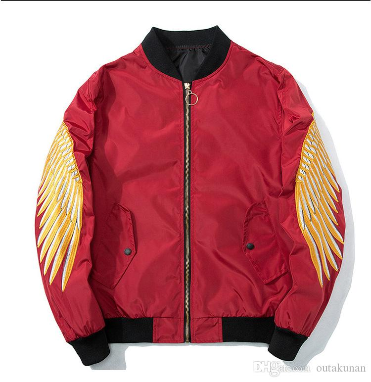 69a316672 Chinese style cranes Printing Designer Bomber Jackets Mens New Satin  Fabrics Stand Collar Varsity hip hop coat Jacket baseball uniform_A25