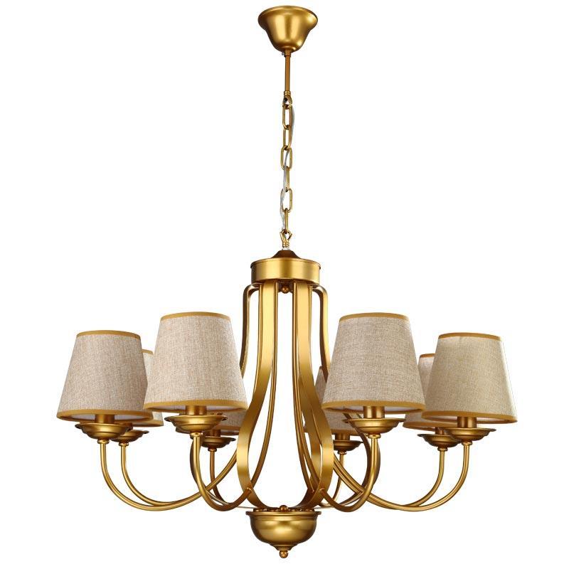 Grosshandel Moderne Design Kronleuchter Gold Eisen Lampe Wohnzimmer