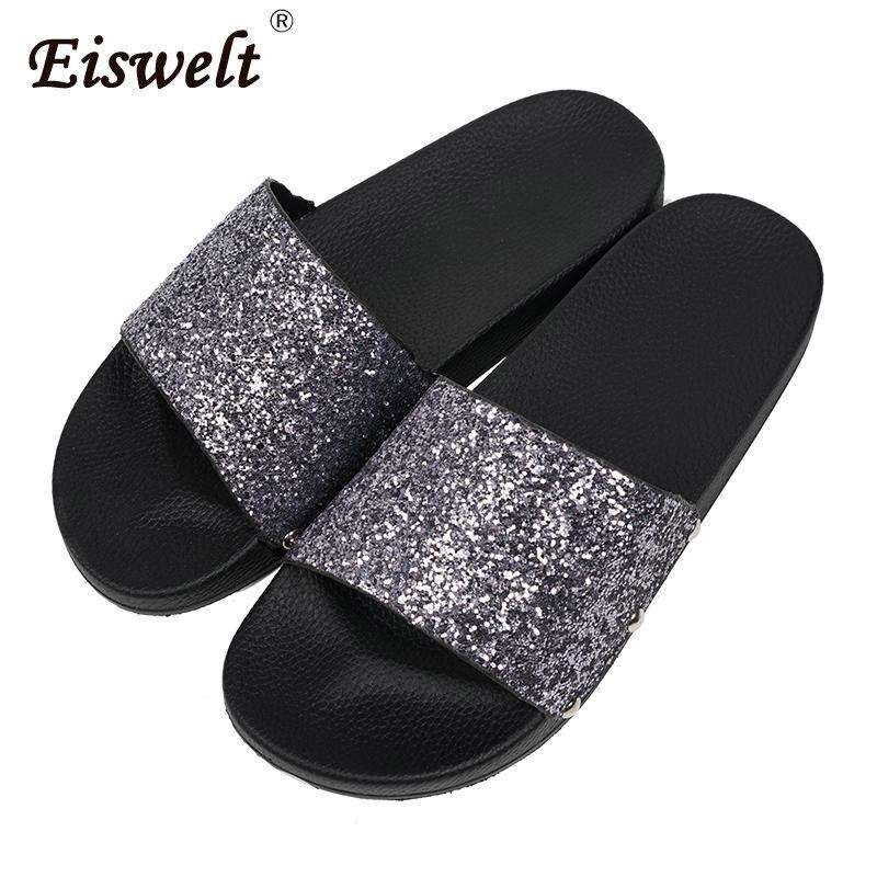 11e3c0d4a700 EISWELT Women Slippers Flip Flops Peep Toe Sandals Glitter Slippers Sandals  Platform Comfortable Summer Women Womens Shoes Desert Boots From Keyhess